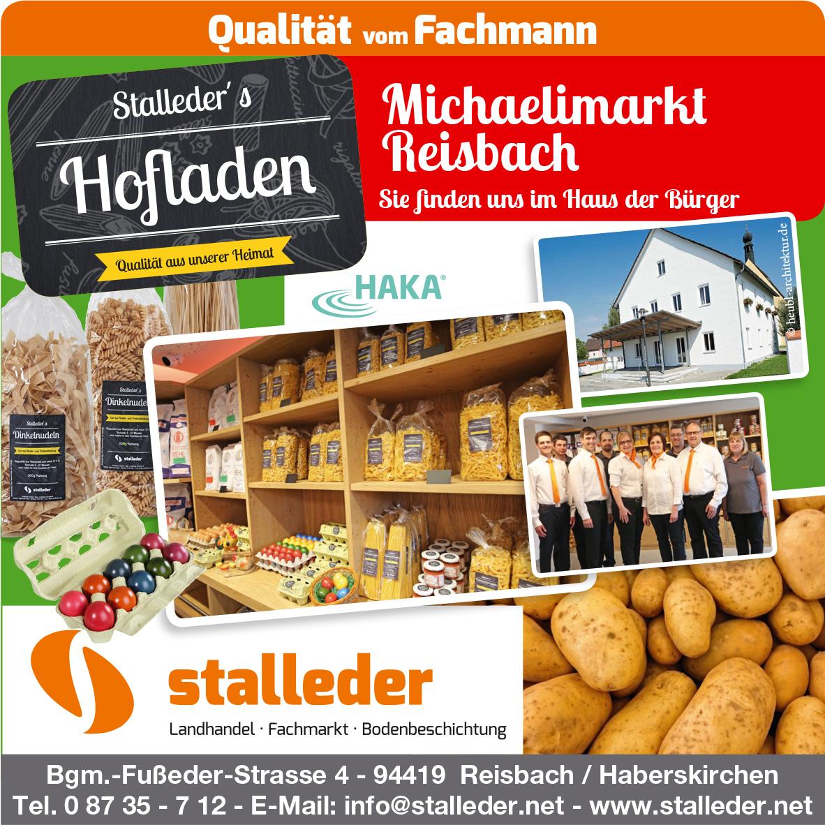 Stalleder's Hofladen beim Michaelimarkt am 23. Sept. 2018 in Reisbach mit dabei