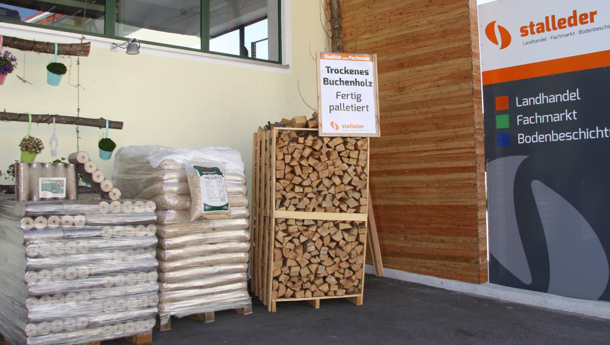 Buchenholz, Pellets oder Holzbriketts